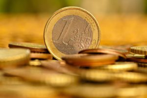 depth of field, Coins, Euros
