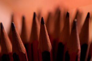 depth of field, Pencils