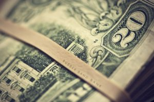 depth of field, Dollar bills, Dollars
