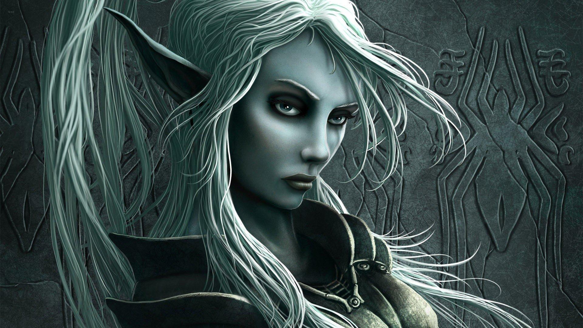 Fantasy Art Elves Wallpapers Hd Desktop And Mobile: Female Drow HD Wallpapers / Desktop And Mobile Images & Photos