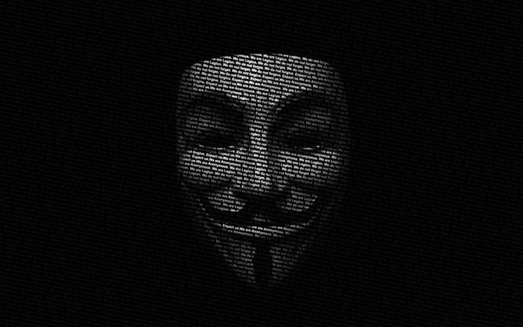 black, Anonymous HD Wallpaper Desktop Background