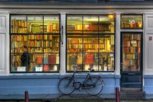 books, Stores, Bicycle, Urban
