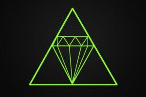 diamonds, Minimalism, Gray