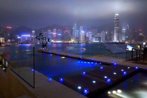 city, Night, Lights