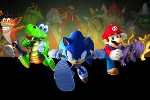 Super Mario, Sonic the Hedgehog, Crash Bandicoot, Spyro
