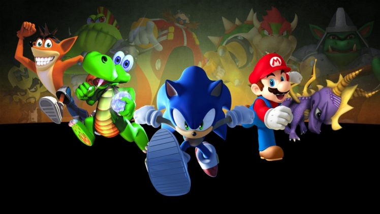 Super Mario, Sonic the Hedgehog, Crash