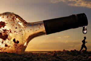 bottles, Water drops, Sunlight, Sand, Running, Silhouette