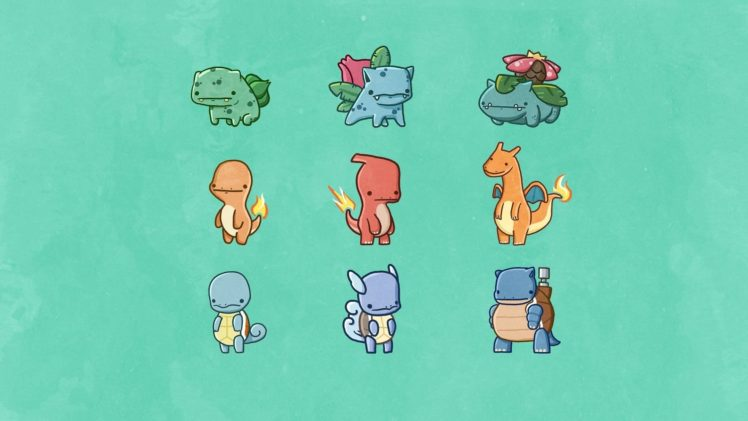 Pokemon, Starters HD Wallpaper Desktop Background