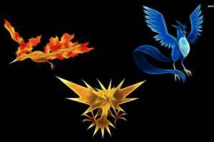 Articuno, Zapdos, Moltres, Pokemon