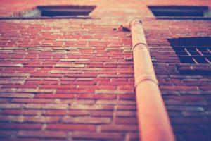 architecture, Bricks, Window, Worms eye view, Warm colors