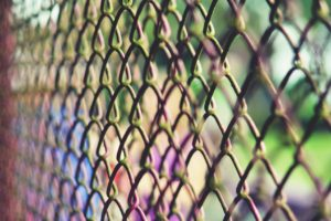 fence, Chain link, Depth of field