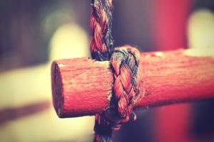 ropes, Wood, Depth of field