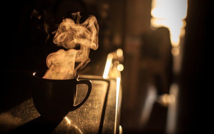 coffee, Cup, Mugs, Drink, Depth of field, Macro HD Wallpaper Desktop Background