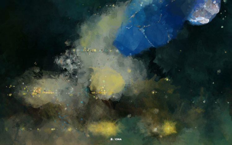Michael Cina Ghostly International Painting HD Wallpaper Desktop Background