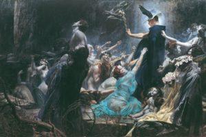 painting, Adolf Hiremy Hirschl, Hermes, Death, Mythology, Greek