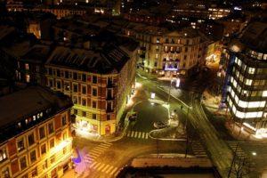 Oslo, Norway, Night, Cityscape, Road