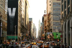 New York City, Cityscape, Traffic, Advertisements, Taxi