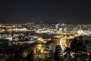 night, Oslo, Norway
