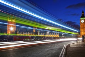 cityscape, London, Big Ben, Road, Lights, England, Clocktowers, Long exposure, Light trails