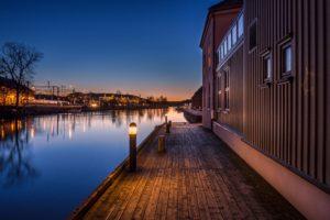 Norway, Dusk, Halden