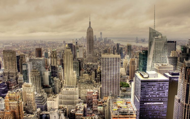 cityscape, HDR, Building, New York City, Empire State Building, USA HD Wallpaper Desktop Background