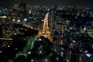 Asia, Japan, Tokyo, Cityscape, Night, Lights