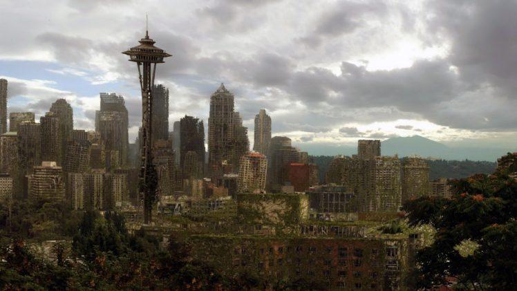 apocalyptic, City, Building, Ruin HD Wallpaper Desktop Background