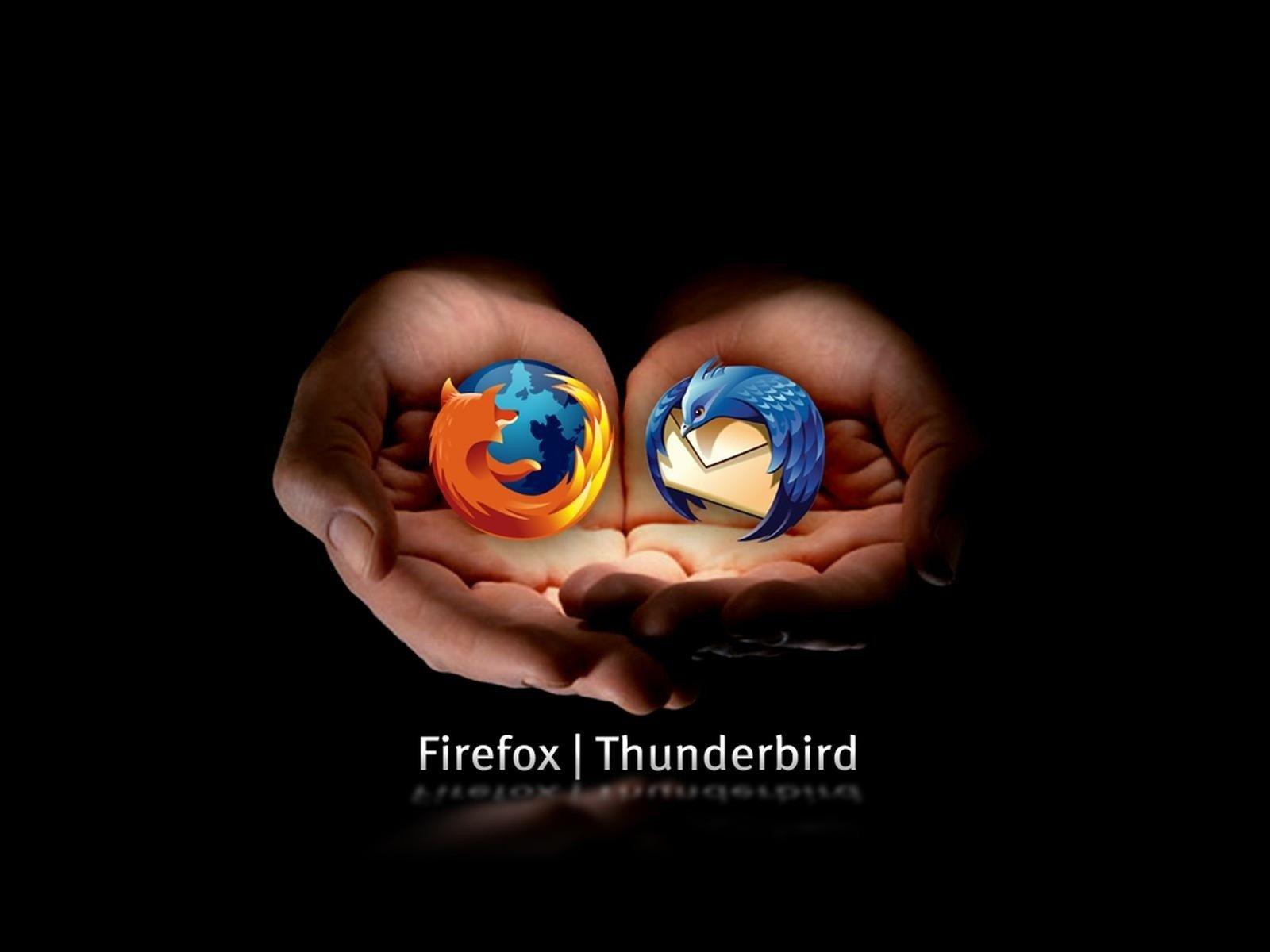 Mozilla Firefox, Logo, Open source, Browser, Dark, Fox, Thunderbird Wallpaper