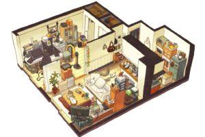 house, Isometric