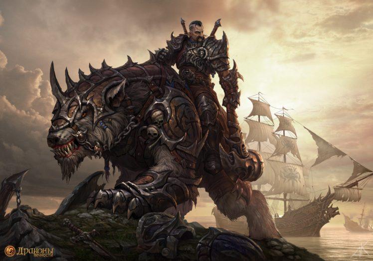 warrior, Axes, Creature HD Wallpaper Desktop Background