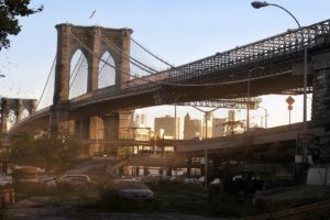 New York City, Bridge, Ruin