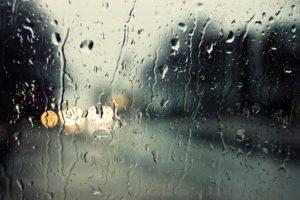 rain, Glass