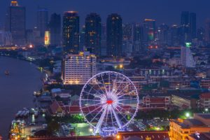 cityscape, Ferris wheel, Thailand, Coast