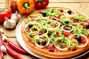 pizza, Vegetables, Food, Tomatoes, Peppers, Chilli peppers