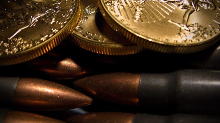 Bullet Coins Gold United States HD Wallpaper Desktop Background