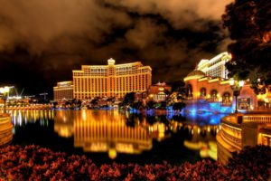 cityscape, Hotels, Reflection, Lights, Las Vegas