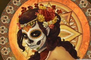 ancient, Painting, Sugar Skull
