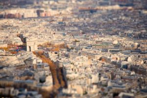 tilt shift, National Geographic, Paris, Cityscape, France, Arc de Triomphe