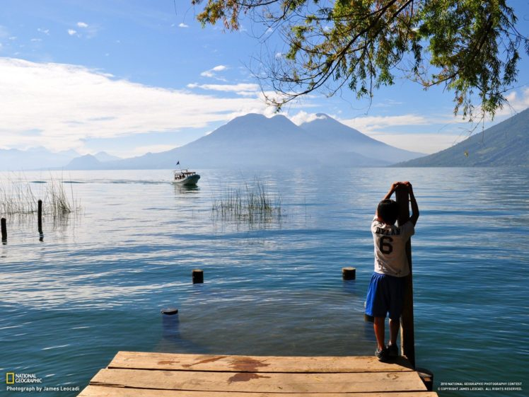 children, National Geographic, Water, Boat HD Wallpaper Desktop Background