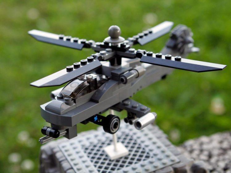 LEGO, Boeing AH 64 Apache, Helicopters HD Wallpaper Desktop Background