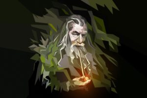 Gandalf, Low poly, Pipes, Wizard