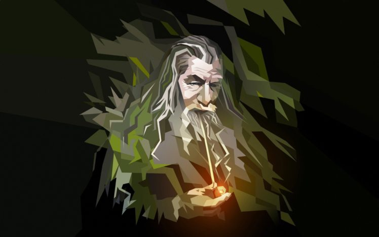 Gandalf Low Poly Pipes Wizard Hd Wallpapers Desktop And Mobile Images Photos