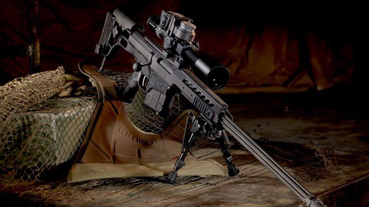 Barrett M98B Sniper Rifle HD Wallpaper Desktop Background