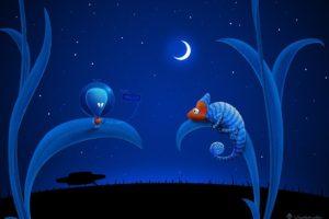 Vladstudio, Aliens, UFO, Moon, Chameleons