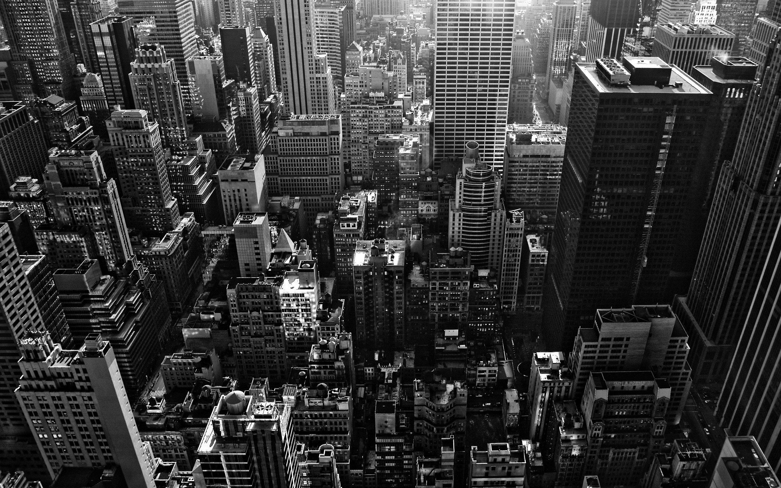 city, Building, Monochrome Wallpaper