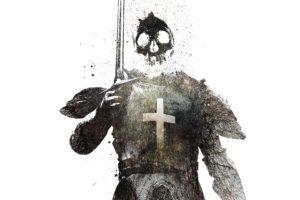 skull, Dark templar, In memoriam, Alex Cherry, Paint splatter
