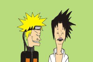 Beavis, Butthead, Uchiha Sasuke, Uzumaki Naruto, Crossover, Beavis and butthead