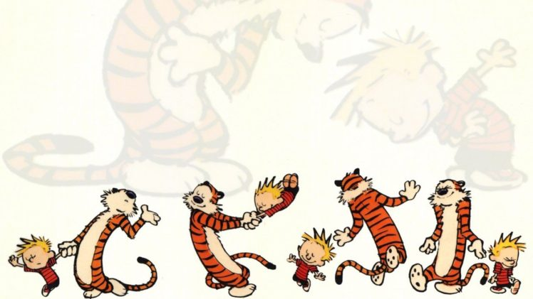 tiger, Calvin and Hobbes HD Wallpaper Desktop Background