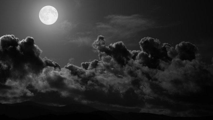 moon, Dark HD Wallpaper Desktop Background