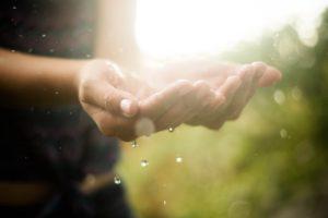 hands, Rain